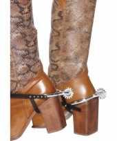 Zilveren cowboy sporen 10118568