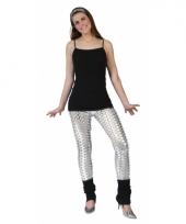 Zilveren gaten legging voor vrouwen