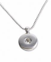 Zilveren ketting voor drukknoop