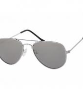 Zilveren kinder piloten zonnebril model 3000