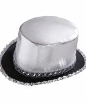 Zilveren pailletten hoed