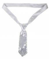 Zilveren stropdas bling bling