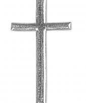Zilverkleurige kaarsen decoratie kruis