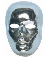 Zilverkleurige masker