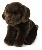 Zittende labrador knuffel 20 cm bruin