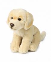 Zittende labrador knuffel 20 cm creme