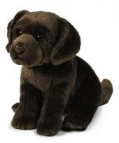 Zittende labrador knuffel 26 cm bruin