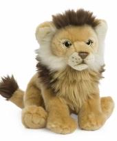 Zittende leeuw knuffeltje 23 cm