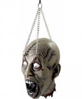 Zombie hoofd aan ketting