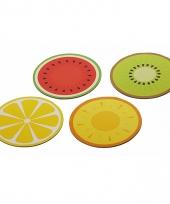 Zomers fruit placemats set van 4