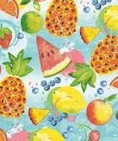 Zomers fruit thema servetten 40 stuks