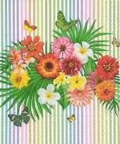 Zomerse bloemen thema servetten 60 stuks