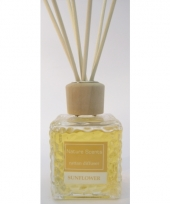 Zonnebloem geur olie lucht verfrisser met stokjes 80 ml