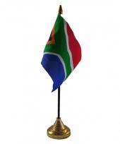 Zuid afrika tafelvlaggetje 10 x 15 cm met standaard