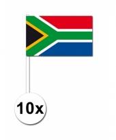 Zuid afrika zwaai vlaggetjes 10 stuks