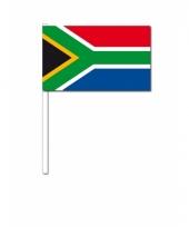 Zuid afrika zwaai vlaggetjes 12 x 24 cm