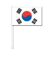 Zuid korea zwaai vlaggetjes 12 x 24 cm