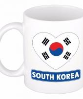 Zuid koreaanse vlag hartje koffiemok 300 ml