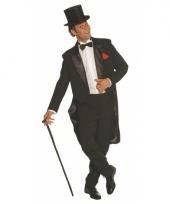 Zwart cabaret kostuum jas en broek
