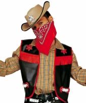Zwart cowboy giletje voor kids