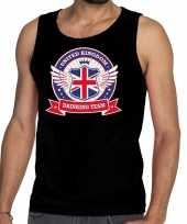 Zwart engeland drinking team tanktop mouwloos shirt heren