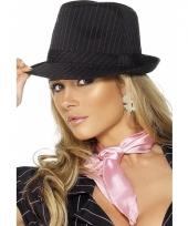 Zwart met roze gangster hoeden