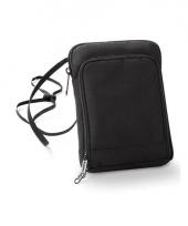 Zwart paspoorttasje