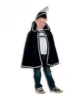 Zwart prins carnaval outfit voor kinderen