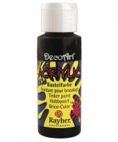 Zwarte acryl hobby verf 59 ml