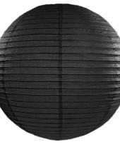 Zwarte bol lampion 50 cm