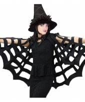 Zwarte cape voor halloween