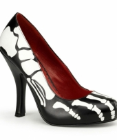 Zwarte dames pumps met skeletten