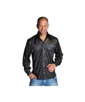 Zwarte glamour blouse mannen