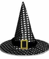 Zwarte heksenhoed met stippen voor volwassenen