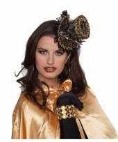 Zwarte hoge hoed in steampunk stijl