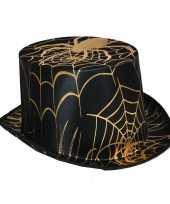 Zwarte hoge hoeden met spin