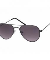 Zwarte kinder piloten zonnebril model 3000