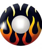 Zwarte kleurlenzen met vlammetjes