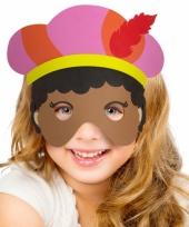 Zwarte piet masker voor meisjes