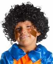 Zwarte pieten pruik voor kids 10060660