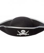 Zwarte piraten hoed voor volwassenen