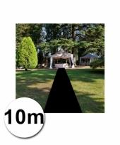 Zwarte versiering lopers 1 meter bij 10 meter