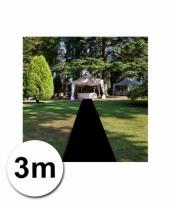Zwarte versiering lopers 1 meter bij 3 meter