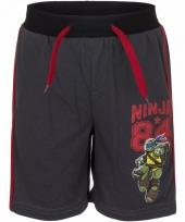Zwarte zomer short ninja turtles