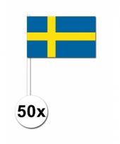 Zweden zwaai vlaggetjes 50 stuks