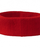 Zweetbandjes haarbandje rood