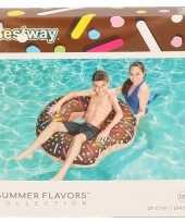 Zwembad opblaas donut chocolade 107 cm