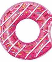 Zwembad opblaas donut roze 107 cm