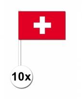 Zwitserland zwaai vlaggetjes 10x