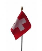 Zwitserse landenvlag op stokje